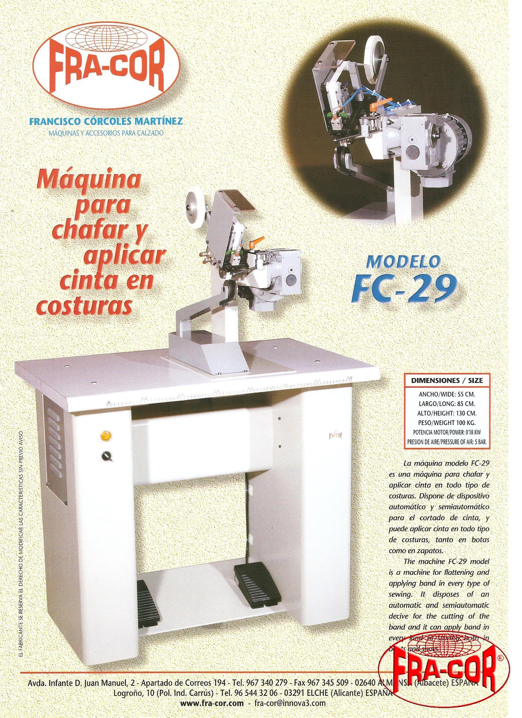 Chafar y poner cinta FC-29