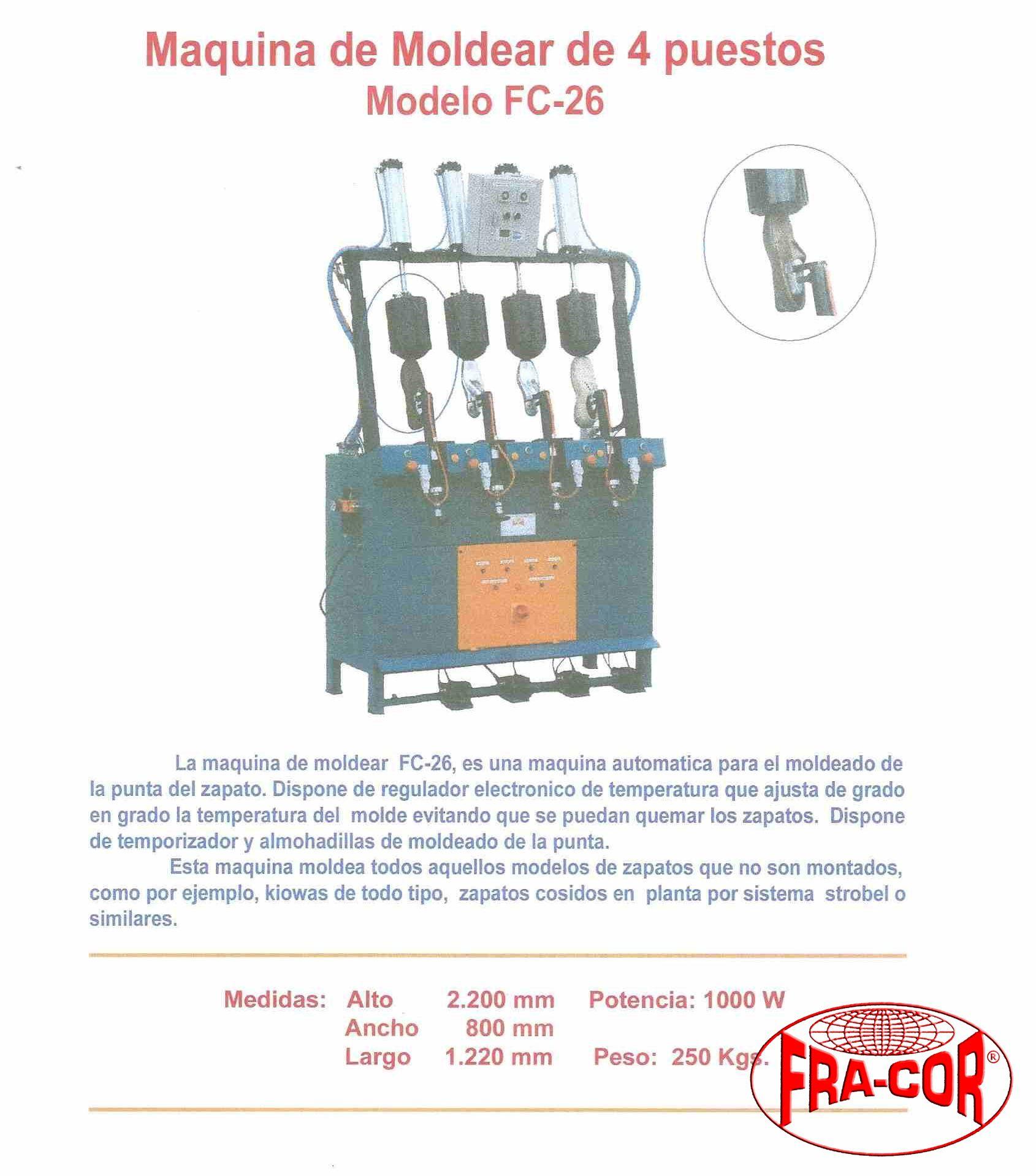Moldear 4 puestos FC-26